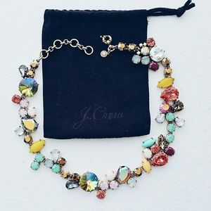 J. Crew Multi-Colored Crystal Stone Necklace